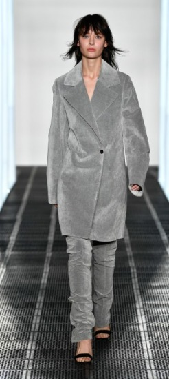 Strateas Carlucci- grey trench